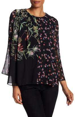 French Connection Bluhm Botero Chiffon Blouse