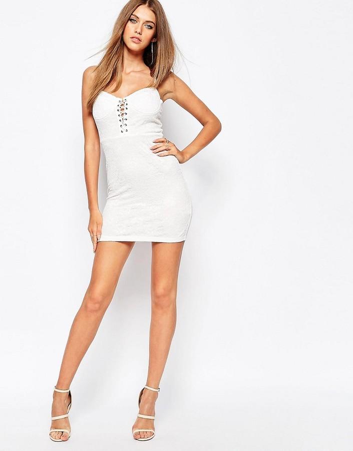 Missguided Lace Up Mini Dress - ShopStyle.co.uk Women