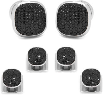 Cufflinks Inc. Black Preciosa Pave Cuff Links & Stud Set