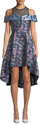 Elliatt Amore Floral Jacquard & Mesh Dress