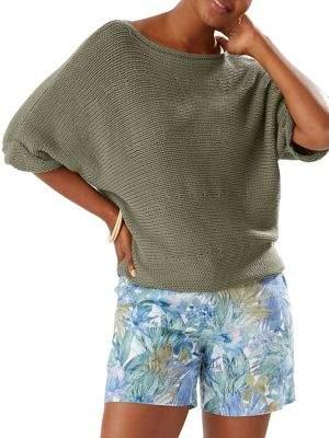 Tommy Bahama Drop-Shoulder Longline Sweater