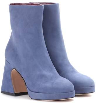 Gretta Sies Marjan suede platform ankle boots