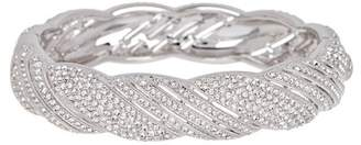 Nadri Crystal Pave Twist Hinge Bangle Bracelet