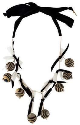 Lele Sadoughi Wooden Collector Necklace