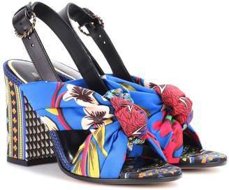 Etro Printed satin sandals