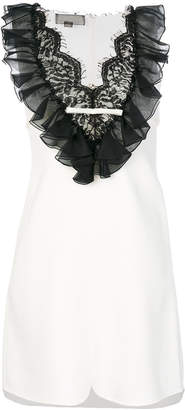Giambattista Valli frill lace bib dress