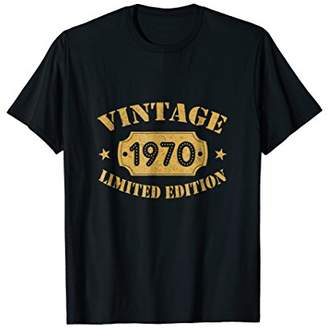 Facts Shirt Vintage Limited 48th Birthday Gift Made In 1970