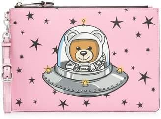 Moschino Teddy Bear print clutch