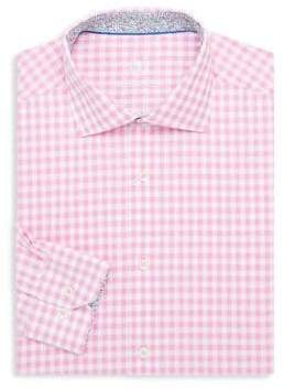 Bugatchi Gingham Cotton Dress Shirt
