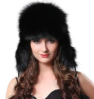 ef8cf37a9b8 at Amazon Canada · FURTALK Winter Fox Fur Trapper Hat - Ushanka Aviator  Trooper Hat Two Fur Pom Poms Women