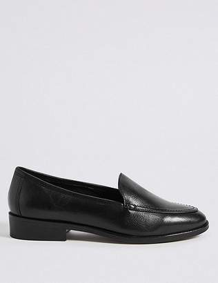 Marks and Spencer Leather Block Heel Loafers