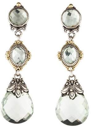 Konstantino Prasiolite Color Classics Drop Earrings