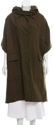 Max Azria Wool Hooded Poncho