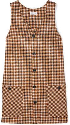 Paul & Joe Baydere Houndstooth Wool Mini Dress - Brown