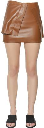 J.W.Anderson Nappa Leather Layered Panel Mini Skirt