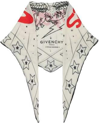Givenchy Creatures print scarf