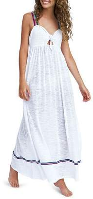 Pitusa Violette Tie-Front Coverup Maxi Dress