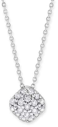 KC Designs 14K White Gold Diamond Pave Cushion Shape Necklace - 0.28 ctw