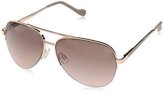 Jessica Simpson Women's J5506 Rgdnd Aviator Sunglasses