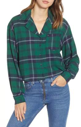Tommy Jeans Crop Check Shirt (Nordstrom Exclusive)