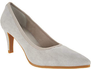 LOGO by Lori Goldstein Lori Goldstein Collection Washed Linen Pumps w/Crepe Bottom