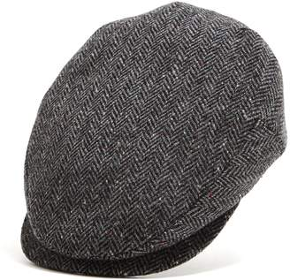 Lock & Co Hatters Lock and Co Charcoal Donegal Newsboy Drifter Cap