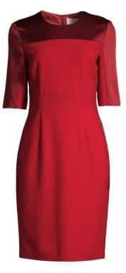 BOSS Danufa Satin Trimmed Dress