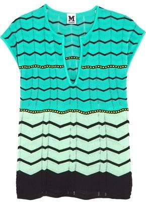 M Missoni Cotton-Blend Crochet-Knit Top