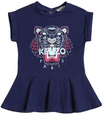 Kenzo Tiger Printed Cotton Jersey Dress
