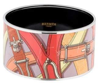Hermes Extra Wide Enamel Bangle