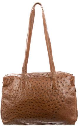 pradaPrada Large Ostrich Shoulder Bag