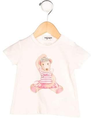 Junior Gaultier Girls' Ballerina Bear Print T-Shirt