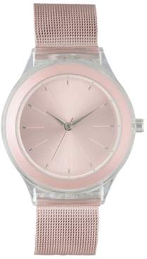 INC International Concepts I.n.c. Women's Pink Stainless Steel Mesh Bracelet Watch 38mm, Created for Macy's