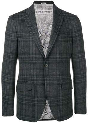 Etro single-breasted check blazer
