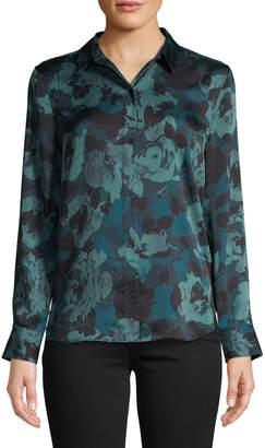 Equipment Leema Floral-Print Button-Down Blouse