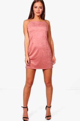 boohoo Petite Rita Suedette Mini Dress