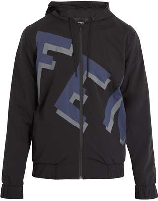 Fendi Logo-print hooded jacket