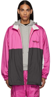 Chaos Doublet Pink Embroidery Track Jacket