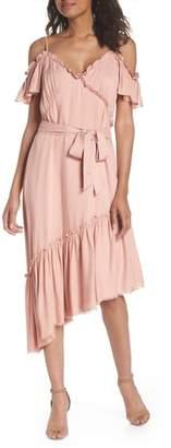 Paige Aylin Cold Shoulder Ruffle Dress