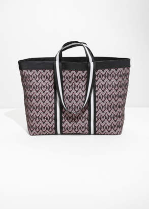 And other stories Jacquard Tote Bag