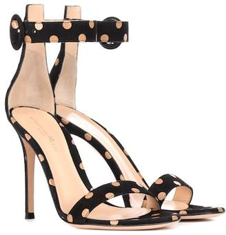 Gianvito Rossi Portofino 105 polka-dot suede sandals