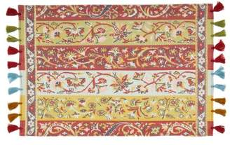D'Ascoli Set Of Four Shawl Tassel Trimmed Placemats - Multi