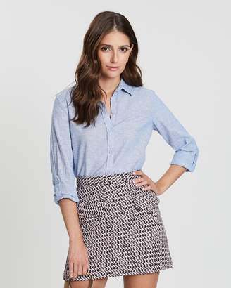 Dorothy Perkins Chambray Linen Shirt