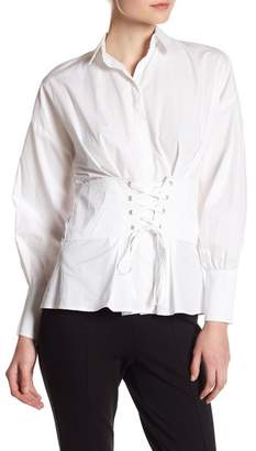 Romeo & Juliet Couture Corset Lace-Up Blouse