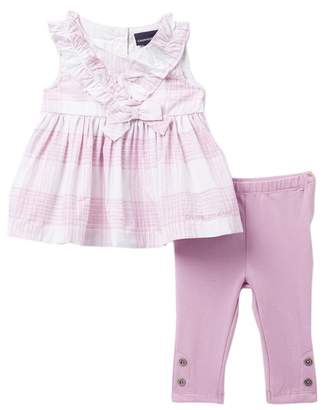 Calvin Klein Plaid Tunic & Leggings Set (Baby Girls 3-9M)
