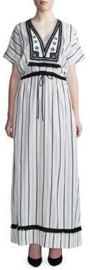 DAY Birger et Mikkelsen Pencil-Striped V-Neck Dress