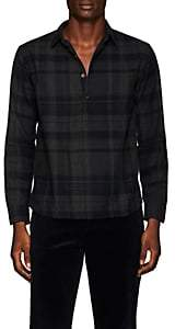 Barena Venezia Men's Plaid Herringbone-Weave Cotton Shirt - Gray