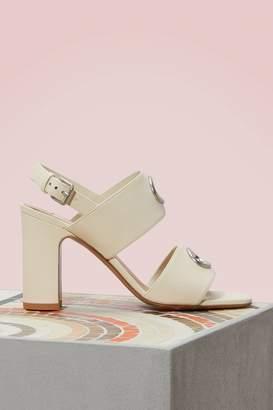 Valentino Eyelet Sandals