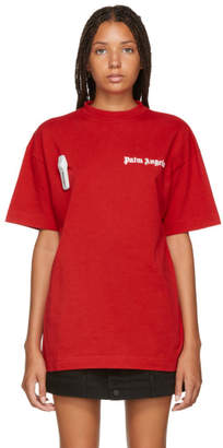 Palm Angels Red New Basic T-Shirt