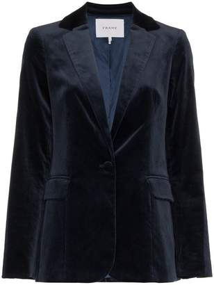 Frame velvet single breasted blazer